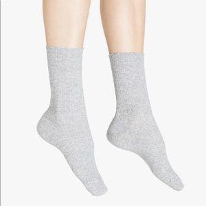 (2) Pairs of Hue White Scalloped Socks